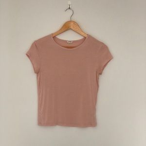 Blush Pink Garage Short Sleeve Tee Shirt